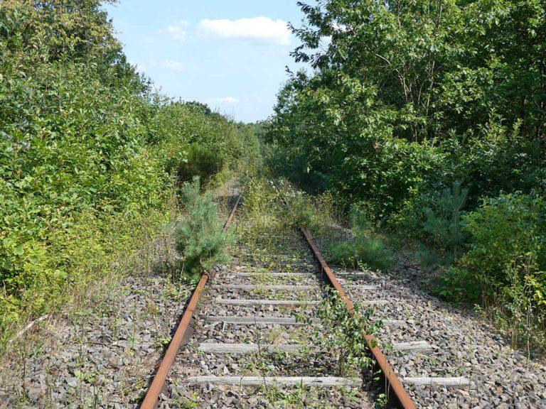 Oude spoorweg voor mijnwerkers