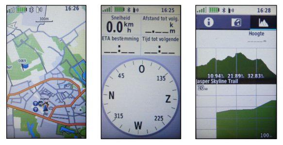 GPSMAP Schermen 1