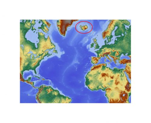 IJsland ligt op de Mid-Atlantic ridge