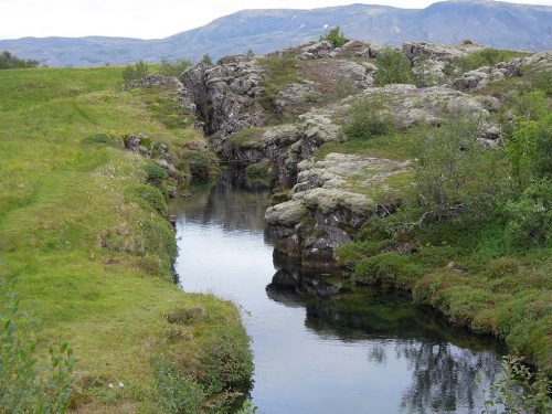 De Mid-Atlantic Ridge op IJsland