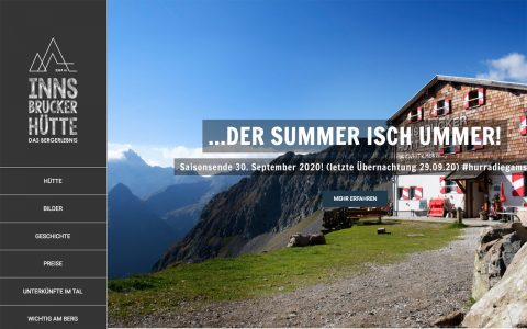 Website Innsbrucker hutte